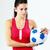 mujer · balón · de · fútbol · hermosa · Asia · nina - foto stock © deandrobot