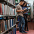 diákok · választ · könyvespolc · könyvtár · nő · mosoly - stock fotó © deandrobot
