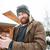 homem · frio · mojito · celular · comida - foto stock © deandrobot