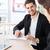 2 · ビジネスマン · 見える · デジタル · タブレット · 笑みを浮かべて - ストックフォト © deandrobot