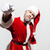 serious frowning man santa claus standing and pointing on you stock photo © deandrobot