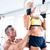 jovem · ginasta · treinamento · anéis · atravessar · trem - foto stock © deandrobot