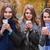 trois · filles · automne · parc · extérieur · coup - photo stock © deandrobot