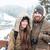 felice · uomo · barba · piedi · montagna · inverno - foto d'archivio © deandrobot