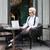 красивой · задумчивый · женщину · сидят · ноутбука · Кубок - Сток-фото © deandrobot
