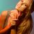 若い女性 · ジェスチャー · 顔 · 肖像 · 幸せ - ストックフォト © deandrobot