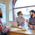 gelukkige · mensen · werken · zakelijke · bijeenkomst · samen · groep - stockfoto © deandrobot