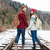 smiling couple walking on railway stock photo © deandrobot
