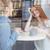 dame · vergadering · tabel · binnenshuis · drinken - stockfoto © deandrobot
