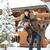 winter · paar · gelukkig · op · de · rug · sneeuw · glimlachend - stockfoto © deandrobot