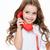 女の子 · ヴィンテージ · 電話 · かわいい · 小さな · 女の子 - ストックフォト © deandrobot