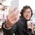 heureux · jeunes · asian · homme · verres - photo stock © deandrobot