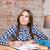 vrouw · vergadering · bureau · schrijven · foto · leraar - stockfoto © deandrobot