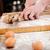 liszt · tojások · vágódeszka · asztal · fa · tojás - stock fotó © deandrobot