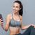 portret · gezonde · fitness · meisje · grijs - stockfoto © deandrobot