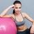 portret · vrouw · barbell · jonge · fitness - stockfoto © deandrobot