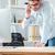 ビジネスマン · 話し · 携帯電話 · 書く · オフィス · ハンサム - ストックフォト © deandrobot