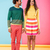 full length of cheerful beautiful african young couple standing stock photo © deandrobot