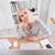 mujer · pensando · algo · jóvenes · mujer · de · negocios - foto stock © deandrobot