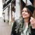 женщину · прослушивании · mp3 · ходьбе · осень · парка - Сток-фото © deandrobot