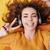 улыбаясь · подростку · девушки · наслаждаться · музыку · наушники - Сток-фото © deandrobot