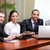 multi ethnic business team at a meeting interacting focus on african american man stock photo © deandrobot