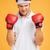 portre · güçlü · genç · boksör · kırmızı · eldiven - stok fotoğraf © deandrobot