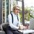 kadın · kafe · sörf · net · kahve · dizüstü · bilgisayar · kullanıyorsanız - stok fotoğraf © deandrobot