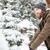 moço · sorridente · inverno · roupa · branco - foto stock © deandrobot