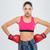 jovem · sério · esportes · mulher · boxeador · imagem - foto stock © deandrobot
