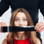 vrouw · bang · gevaarlijk · man · paar · silhouet - stockfoto © deandrobot
