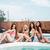 dört · genç · arkadaşlar · yüzme · havuzu · gülen · çocuk - stok fotoğraf © deandrobot