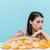 grapefruit · Blauw · tabel · geïsoleerd · oranje · afbeelding - stockfoto © deandrobot