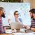 zakenlieden · presentatie · samen · groep · jonge · vergadering - stockfoto © deandrobot