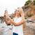 grappig · jonge · vrouw · smartphone · uitdrukkingen · technologie - stockfoto © deandrobot