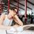 vervelen · vrouw · werken · laptop · jonge · vrouw · kantoor - stockfoto © deandrobot
