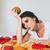 uitgeput · slaperig · vrouw · vergadering · tabel · fast · food - stockfoto © deandrobot