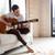 casual · homem · sessão · sofá · jogar · guitarra - foto stock © deandrobot