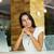 peinzend · jonge · zakenvrouw · vergadering · denken - stockfoto © deandrobot