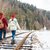 couple walking on railway stock photo © deandrobot