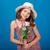 かなり · 女の子 · 帽子 · 花束 - ストックフォト © deandrobot