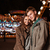 çift · lunapark · bakıyor · kamera · sıcak · elbise - stok fotoğraf © deandrobot