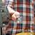 man standing near cashiers desk in supermarket with debit card stock photo © deandrobot