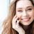 幸せ · 若い女性 · 話し · 携帯電話 · 白 - ストックフォト © deandrobot