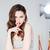 женщину · пальца · губ · моде · рот - Сток-фото © deandrobot