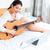 jugando · guitarra · retrato · hermosa · rojo - foto stock © deandrobot