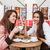 два · молодые · красивой · девочек · кафе - Сток-фото © deandrobot