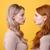 komoly · kettő · hölgyek · fényes · smink · ajkak - stock fotó © deandrobot