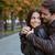 casal · retrato · feliz · outono - foto stock © deandrobot