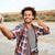 красивый · молодые · африканских · человека · рубашку - Сток-фото © deandrobot